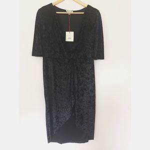 Rolla Coster Kimono Sleeve Crushed Velvet Dress